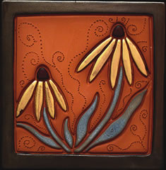 Janet Tobler ~ demonstrating tile artist